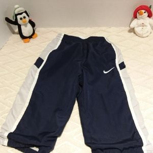Nike jersey lined warm up pants